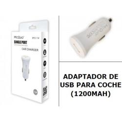 MCQUO REF: 89511W ADAPTADOR DE COCHE 1.2A
