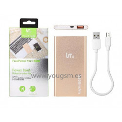 LT TECH PLUS PB102 BATERIA EXTERNA 5600mAh COLOR DORADO
