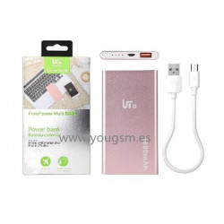 LT TECH PLUS PB102 BATERIA EXTERNA 5600mAh COLOR ROSA