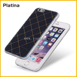 IPHONE 6PLUS 6S PLUS FUNDA PLATINA 简约时尚格纹系列