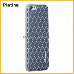 IPHONE 6 6S FUNDA PLATINA 菱形图案系列