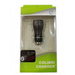 COLIBRI 70259 CARGADOR DE COCHE METAL 2.1A NEGRO