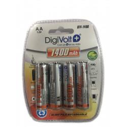 DIGIVOLT BT4-1400 PILA AA 1.2V 1400mAh 4u