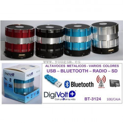 Digivolt Altavoz Bluetooth Metal Colores BT-3124 - BT-3124