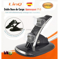 LINQ LI-PS3ZC CARGADOR Doble Base de Carga para mandos PlayStation 3 PS3