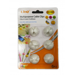 LINQ KC-906 MULTIPURPOSE CABLE CLIPS 6u