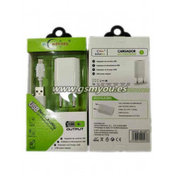 BLC027 ADAPTADOR USB 1.3A+CABLE PARA IPHONE
