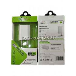 BLC025 ADAPTADOR USB 1.3A BLANCO