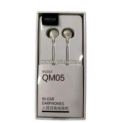 QCY QM05 AURICULAR CON CABLE MICROFONO BLANCO