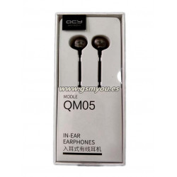 QCY QM05 AURICULAR CON CABLE MICROFONO NEGRO