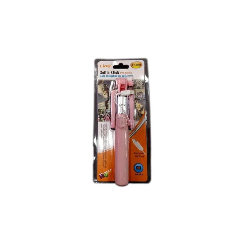 LINQ ZP-8902 PALO SELFIE CON CABLE PARA IPHONE X 8 7 6 5